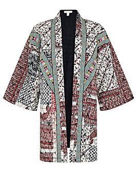 Monsoon Quinn Printed Longline Jacket
