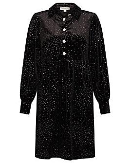 Monsoon Nessa Glitter Velvet Dress