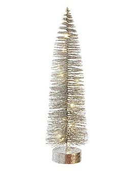 Silver LED Christmas Tree 50cm