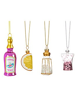 Christmas Cheer Tequila Shaped Baubles