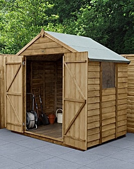 Forest 7 x 5 Apex Shed Double Door with Installation