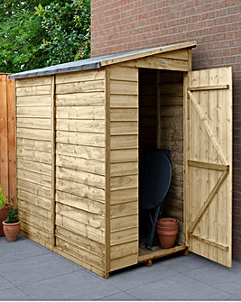 Forest Overlap Pressure Treated 6x3 Pent Shed - No Window