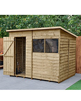 Forest Overlap Pressure Treated 8x6 Pent Shed