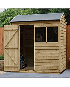 Forest Overlap Pressure Treated 6x4 Reverse Apex Shed