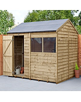Forest Overlap Pressure Treated 8x6 Reverse Apex Shed