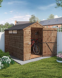 Mercia 8 x 6 Pressure Treated Security Apex Shed