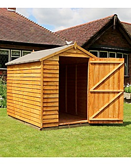 Mercia 8 x 6 Overlap Apex Single Door Windowless Shed