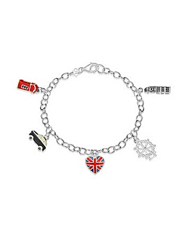 Sterling Silver London Charm Bracelet
