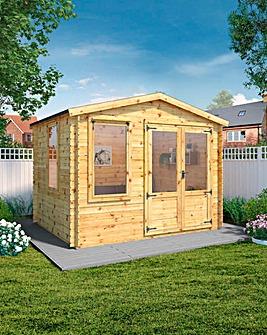 Mercia 2.6m x 3.3m Log Cabin - 19mm