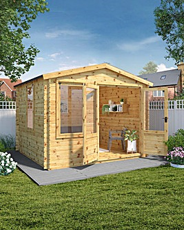 Mercia 3.3m x 3.0m Log Cabin - 19mm