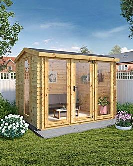 Mercia 3m x 2.5m Kielder Log Cabin - 19mm