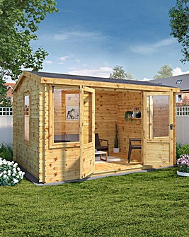 Mercia 4m x 3m Grizedale Log Cabin - 19mm