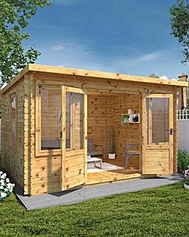 Mercia 4m x 3m Pent 19mm Log Cabin