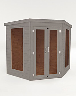 Mercia 7x7 Premium Corner Summerhouse + Install + Painting