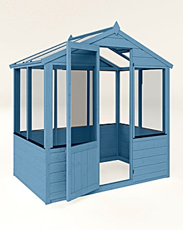 Mercia 4x6 Traditional Greenhouse + Install + Painting
