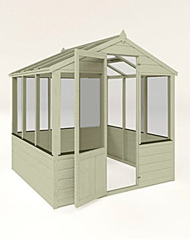 Mercia 6x6 Traditional Greenhouse + Install + Painting
