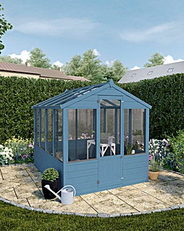 Mercia 8x6 Traditional Greenhouse + Install + Painting