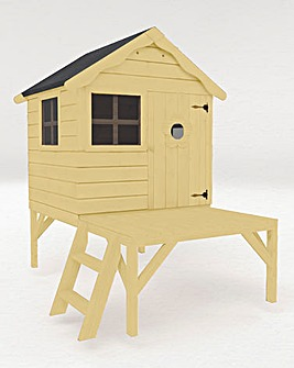 Mercia Snug Playhouse with Tower + Install + Painting