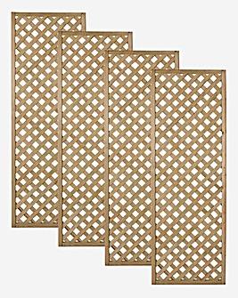 Forest Rosemore Lattice 4 Pack - 180x60cm.