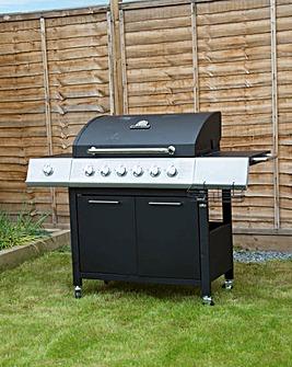 Charles Bentley 6 Burner + 1 Side Burner Gas BBQ