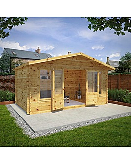 5m x 3m Retreat Log Cabin - 28mm Double Glazed