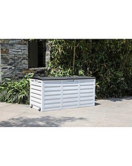 White Waterproof Storage Box With Wheels - 250L