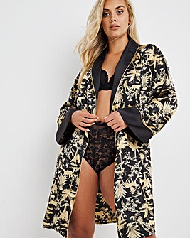 Joe Browns Luxury Leopard Satin Robe