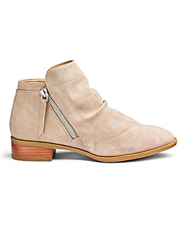 Bonnie Slouch Zip Ankle Boots Wide Fit