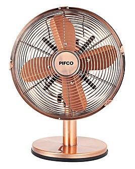 Pifco 10 Inch Copper Desk Fan