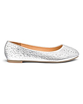 Brandy Studded Ballerina Wide fit