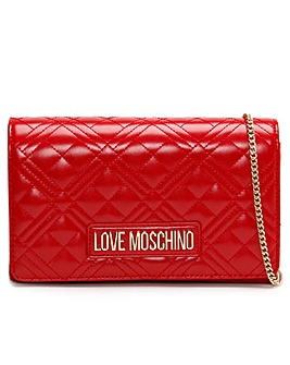 Love Moschino Diamond Quilted Check Cross-Body Bag