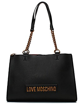 Love Moschino Small Logo Chain Shopper Bag
