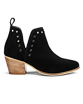 Bree Suede Cut Out Boots Wide Fit