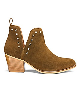 Bree Suede Cut Out Boots Ex Wide Fit