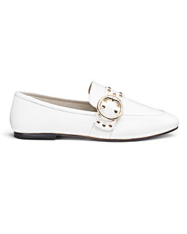 Cloe Stud Buckle Leather Loafer Wide Fit