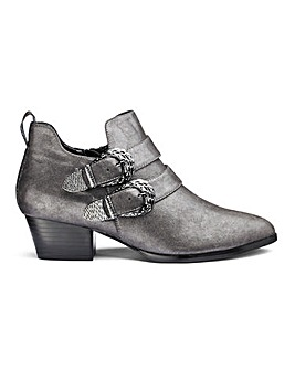 Delilah Western Shoe Boots Wide Fit