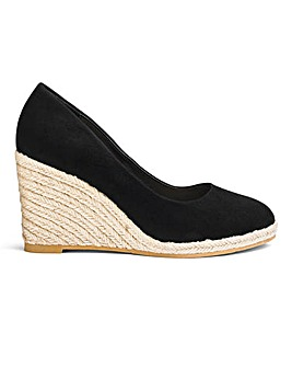 Iris Espadrille Wedge Court Wide E Fit