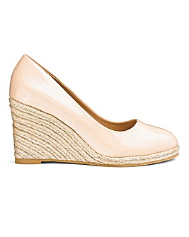 Iris Espadrille Wedge Court Wide Fit