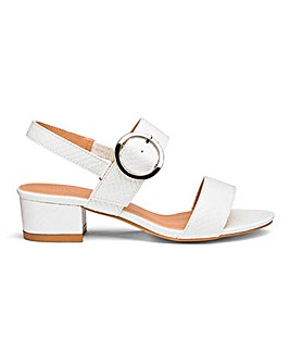 Isabel Low Block Heel Sandal Wide Fit