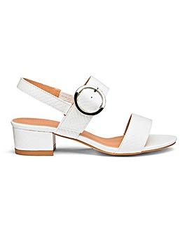 Isabel Low Block Heel Sandal Extra Wide