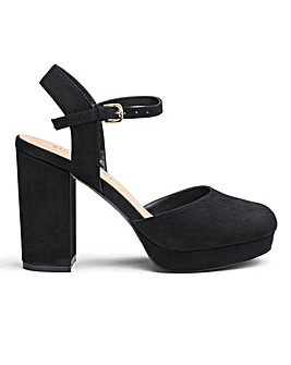 Jordyn Closed Toe Platform Ex Wide Fit