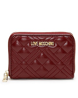 Love Moschino Diamond Check Coin Purse