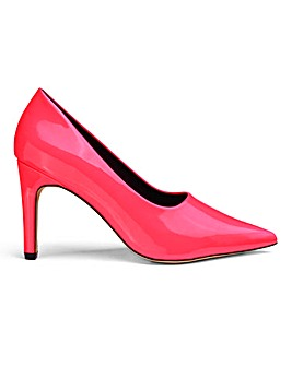 Joy High Vamp Court Shoe Wide Fit