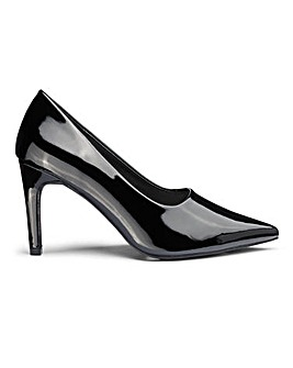 Joy High Vamp Court Shoe Extra Wide Fit