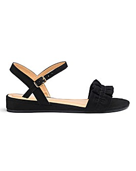 Tammie Low Wedge Ruffle Sandal Wide Fit