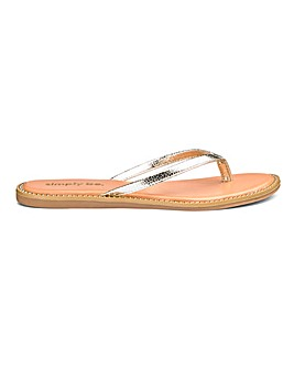c387984940c3 Zenda Studded Sole Flip Flop Wide Fit