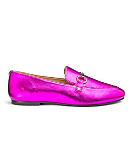 Destiny Metallic Leather Loafer Wide Fit