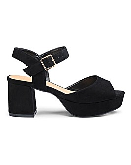 Heather Platform Sandal Extra Wide Fit