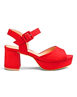 Heather Platform Sandal Wide Fit