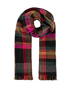 Accessorize JOANNA NAVY CHECK BLANKET